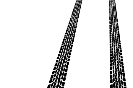 Tire tracks Imagens - 9826479