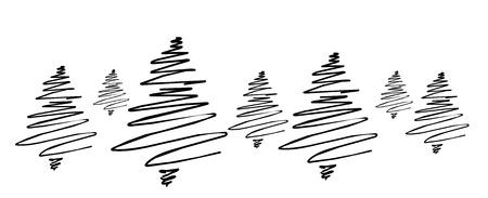 sapins: stylis�e for�t de sapins Banque d'images