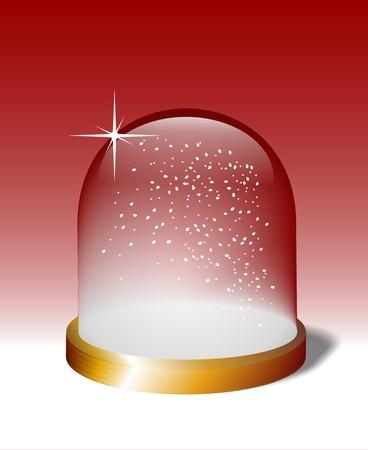 snowballs: snow globe of glass Stock Photo