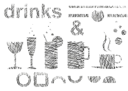 Symbols and signs of a drink selection