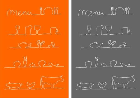Menü, Essen und Trinken Menü-Icons Lizenzfreie Bilder