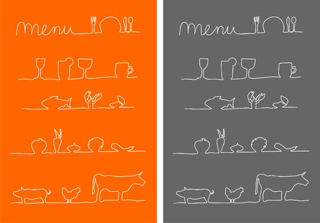 Menu, food and drink menu icons  Stock Photo - 12384998