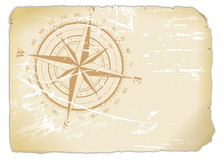 yellowed sheet of paper printed with Compass  photo