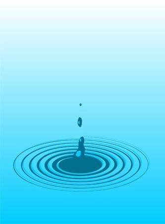 Drops of water, waves, circles  photo
