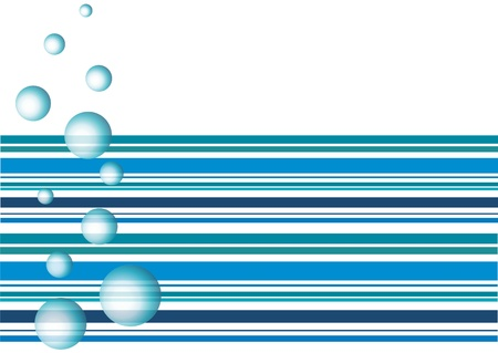 pool symbol: Air bubbles in the water, abstract
