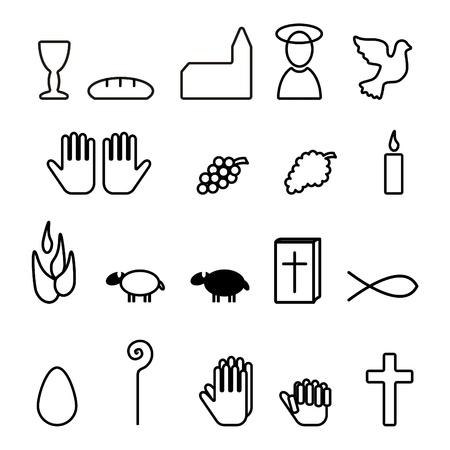 cross bar: Christian symbols, icon, button