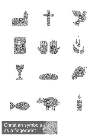 pez cristiano: Símbolos cristianos como una huella digital