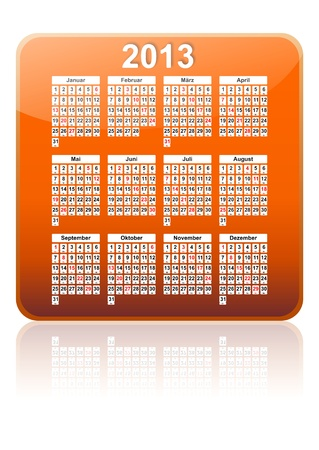 2013 Calendar as an app Stock Photo - 13168048