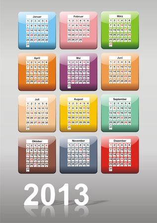 2013 Calendar as an app Stock Photo - 13168046