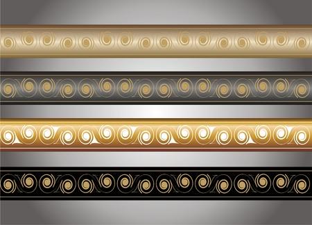 margins: border set in gold