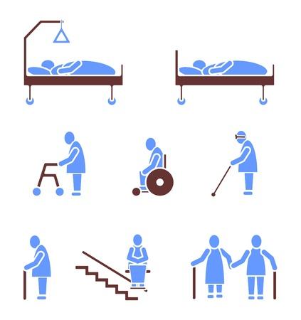 enfermeria: Mayores Icono símbolo Pictograma