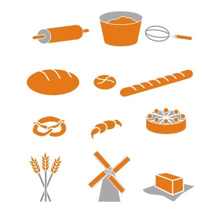 back-icons, symbols, pastry  Stock Photo