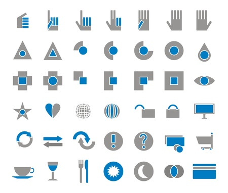 42 icons set shop, eat, drink  Stock Photo - 13754689