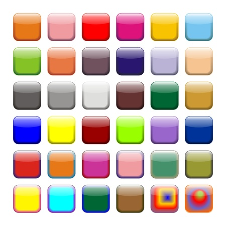 Farbige App-Schaltflächen, Symbole Lizenzfreie Bilder