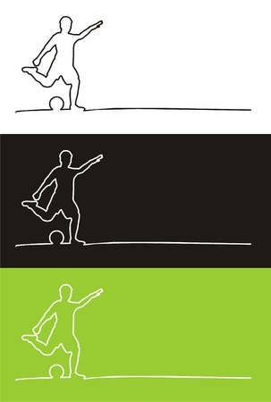 stroking: Soccer players and outline