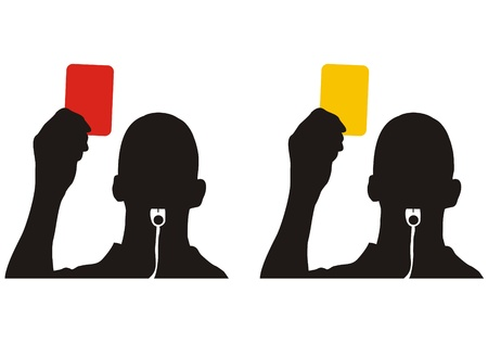 red and yellow card in football  photo