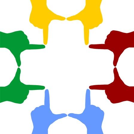 Hand Silhouetten bilden ein Kreuz Standard-Bild - 14660224