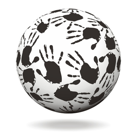 Sphere with hand prints Stock Photo - 14660245