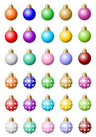 30 vaus colorful baubles Stock Photo - 15429920