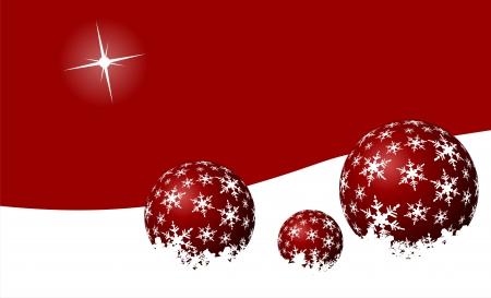 smug: Winter landscape with red balls