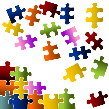 colorful puzzle pieces Stock Photo - 16326205