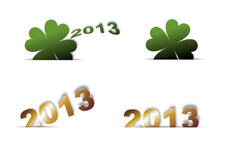 New Year symbols and clover year 2013 Stock Photo - 16326254