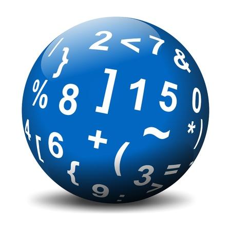 Sphere with mathematical symbols 写真素材