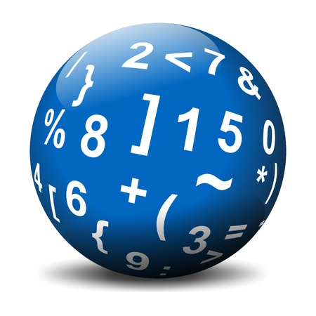 Sphere with mathematical symbols Banque d'images