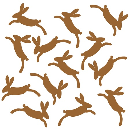 brown hare: brown jumping bunnies