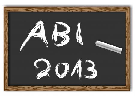 abi: blackboard with the text Abi 2013 Stock Photo