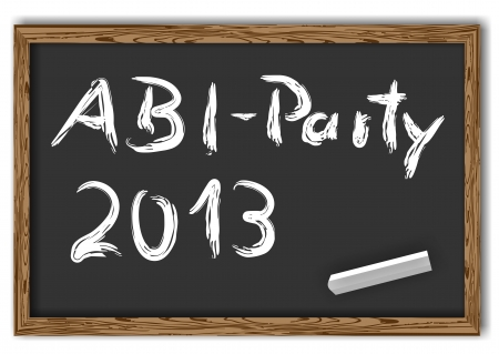 blackboard with the text Abi Party 2013 photo