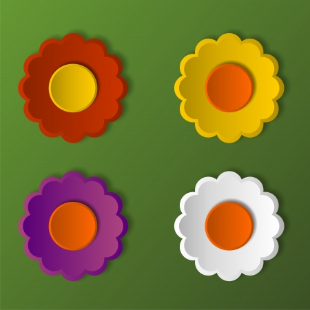 continuously: Flowers against green background