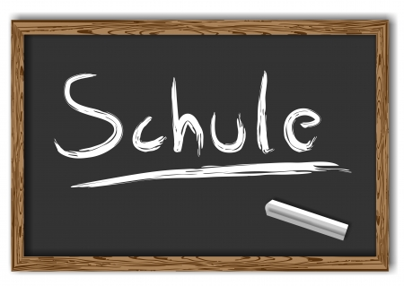 abi: blackboard with the text Schule