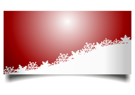 christmas motif: Christmas card with snowy landscape