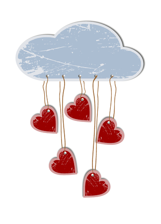 Cloud with attached heart photo