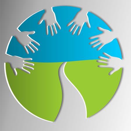 Symbol für helfende Hände