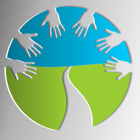 symbol for helping hands  photo