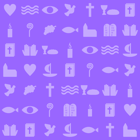 violet christian symbols  Vector