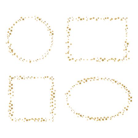 four golden star border