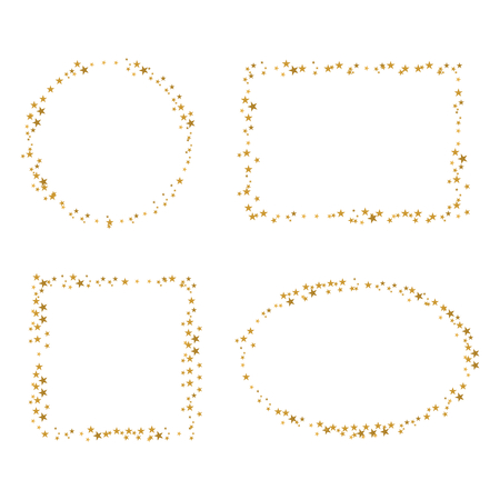 four golden star border Reklamní fotografie - 32771763