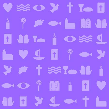 christians: christian symbols Illustration