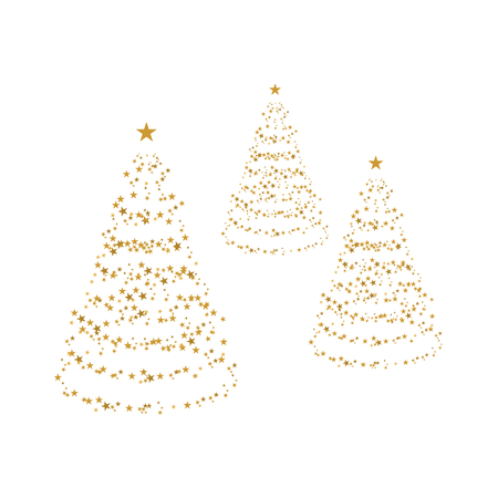 trees with golden stars