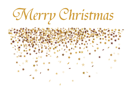vector greeting card: christmas card with golden Stars Illustration