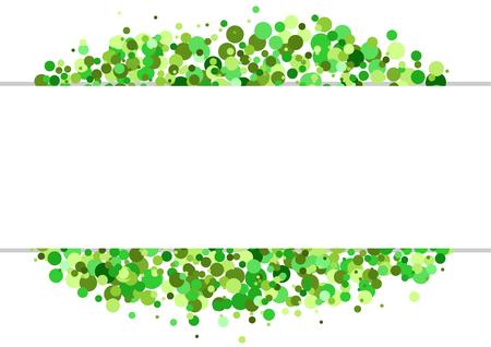 bordure de page: bannière avec des points verts dans l'arrière-plan