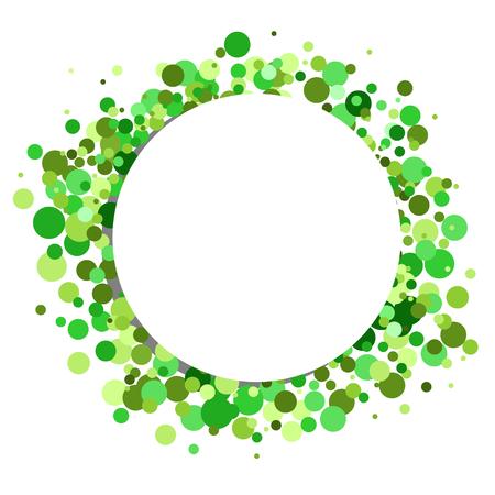 okrągłe granicy z zielonych punktów w tle Ilustracje wektorowe