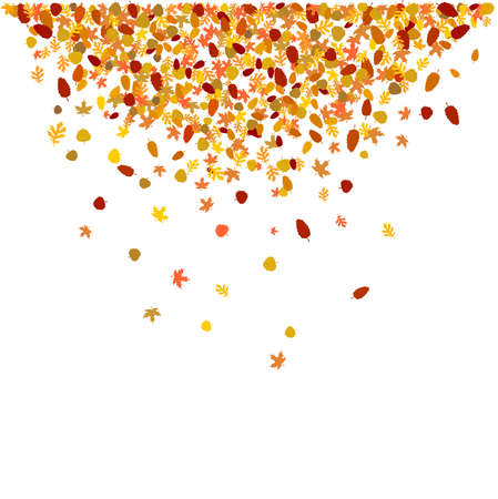 falling autumnal leaves