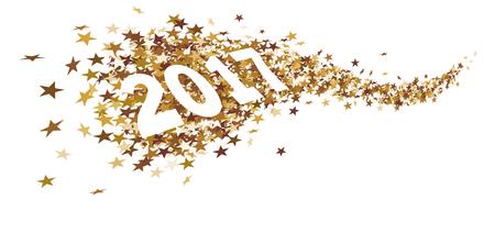 Sternspur mit der Nummer 2017 Standard-Bild - 66544678