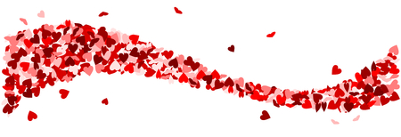 Red hearts as at wave