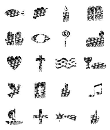different christian symbols Ilustração