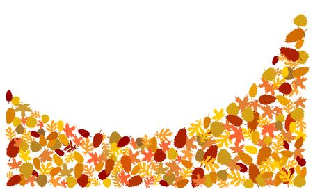 Herbstlaub Hintergrund Standard-Bild - 83208310